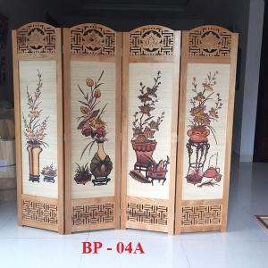 Bình phong gỗ tứ bình BP04