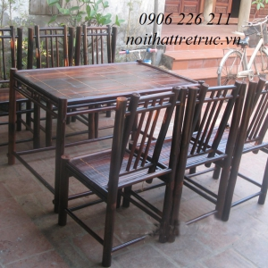 Bàn ghế nhà hàng song thẳng NH02