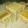 Bộ bàn ghế tre quán ăn bàn vuông
