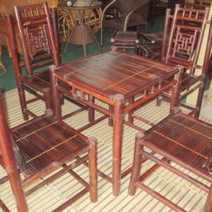 Bộ bàn ghế tre nhà hàng quán cà phê