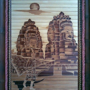 Tranh tre hun khói Cảnh Tiên Đồng (40cm x 60cm)