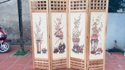 Những mẫu bình phong gỗ đẹp