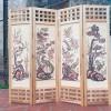 Bình phong gỗ tứ quý BP01
