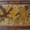 Tranh tre hun khói Anh hùng tương ngộ (40cm x 30cm)