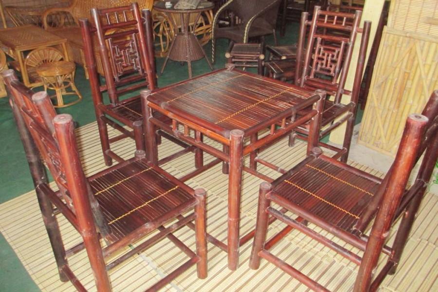 Bộ bàn ghế tre nhà hàng, quàn cà phê