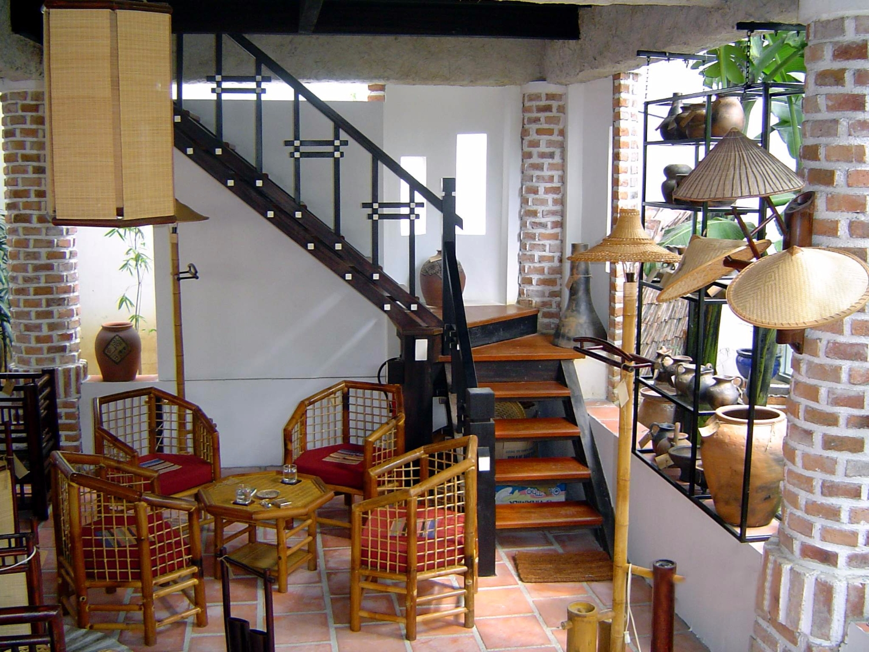 Bộ bàn ghế tre trúc nội thất quán cafe