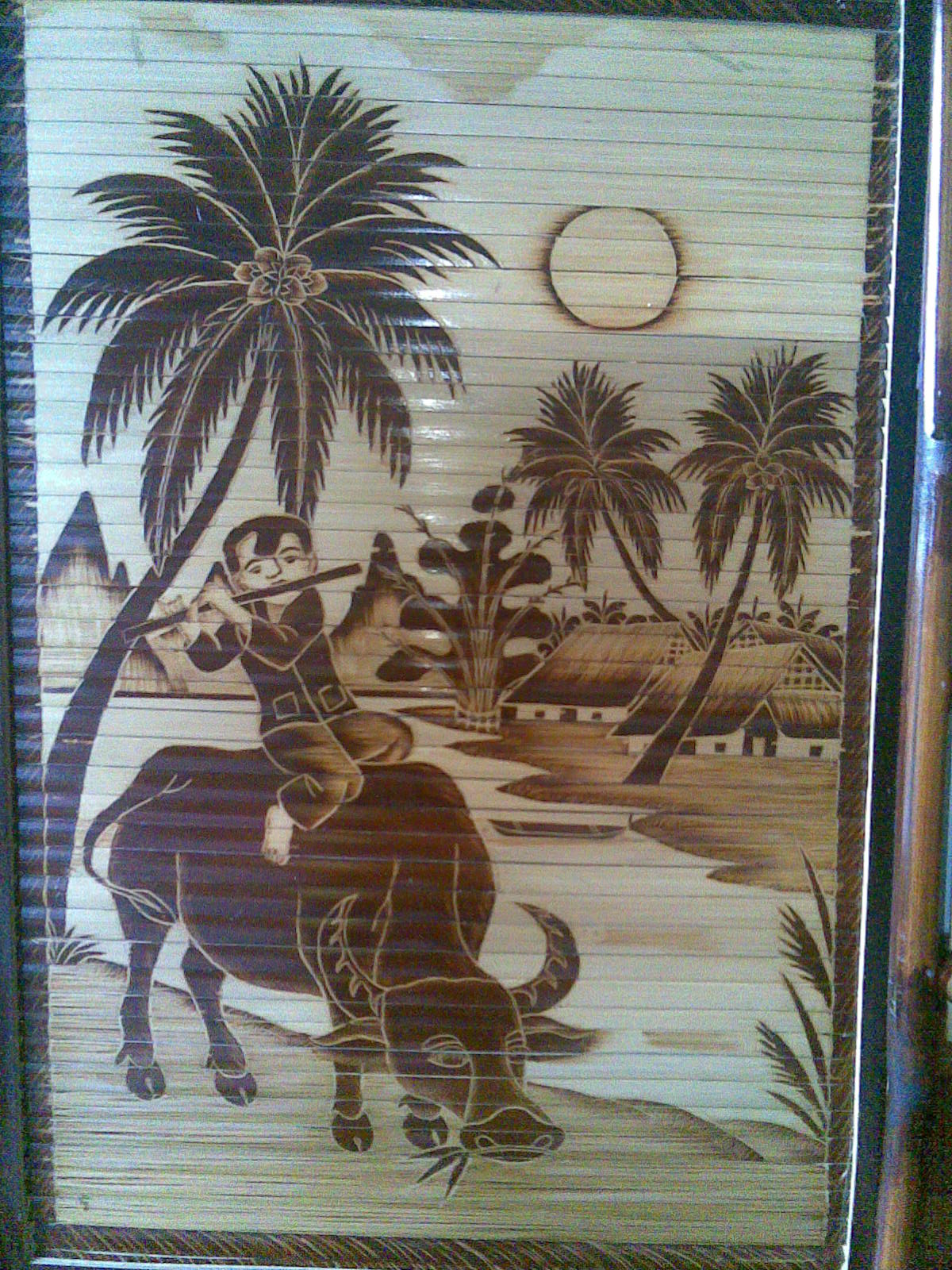 Tranh tre Chăn trâu gthooir sáo
