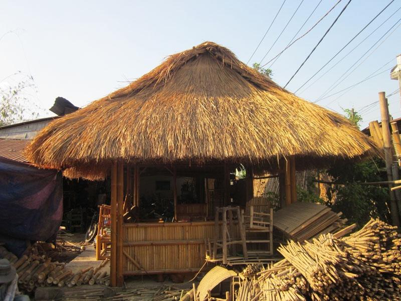 Thi công nhà tre mái lá tổ hợp nhà hàng đồng quê